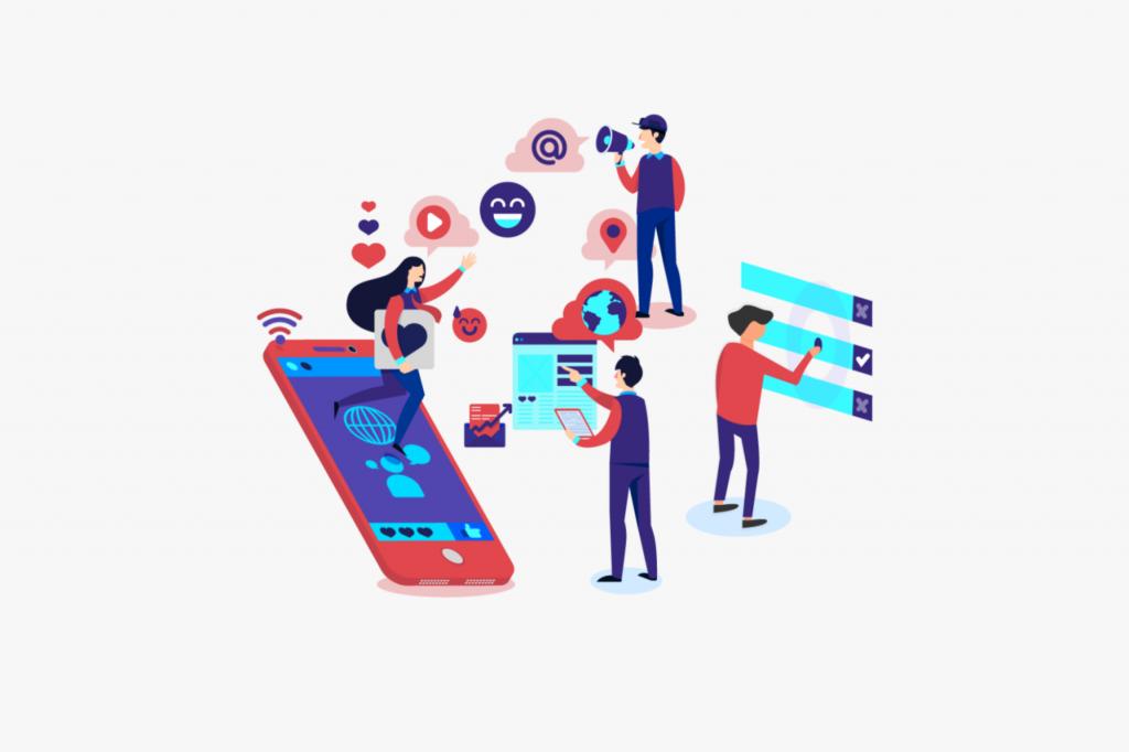 representing digital marketing benefits